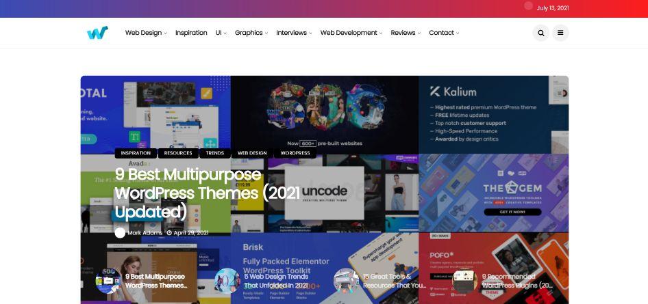 Web Design Ledger - blog for newcomers and advanced digital designers