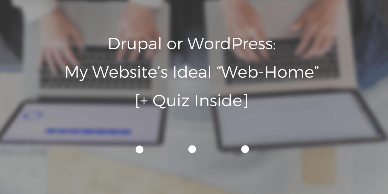 drupal or wordpress