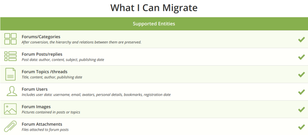 what I can migrate