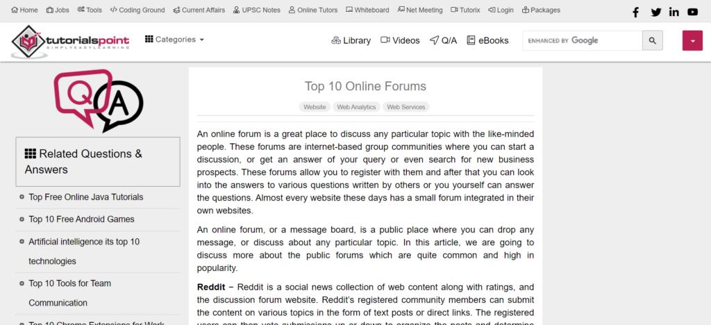 top 10 forum boards