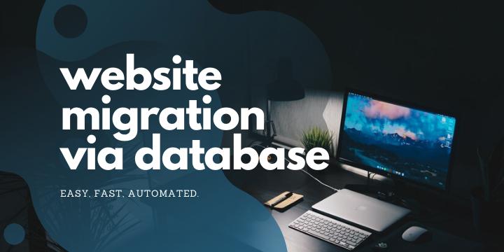 website migration via database