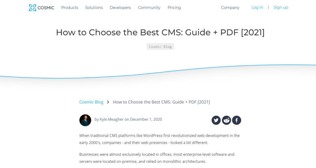 how to choose cms in 2021