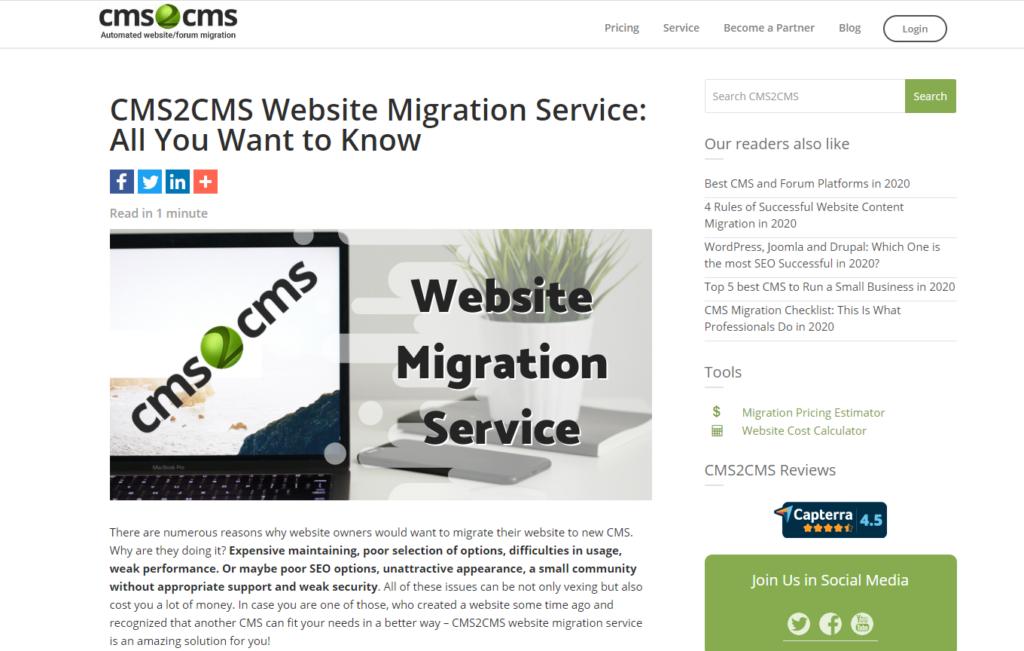 website migration 2021