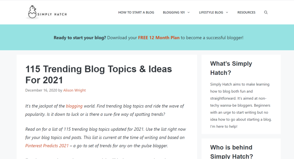 115 blog ideas