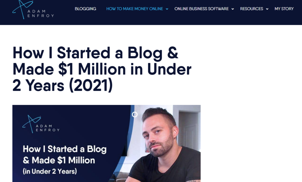 making $1 million with blog
