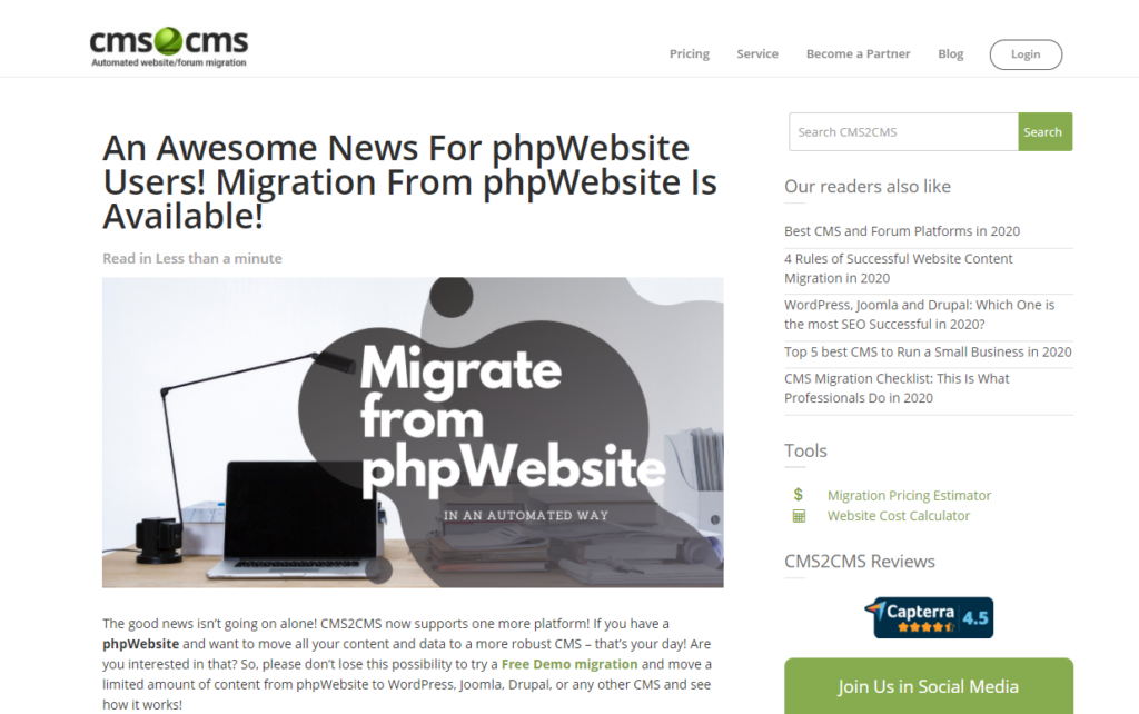 phpwebsite cms release